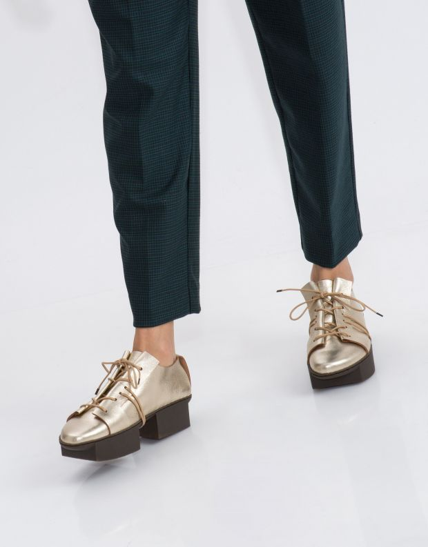 נעלי נשים - Trippen - נעל RIFT BOX - פלטינה