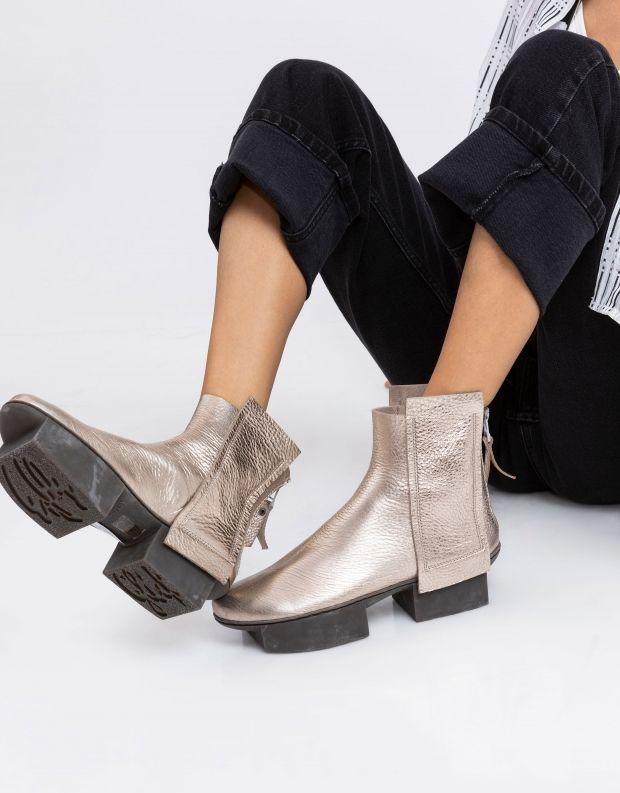 נעלי נשים - Trippen - מגפונים BIN BOX - זהב