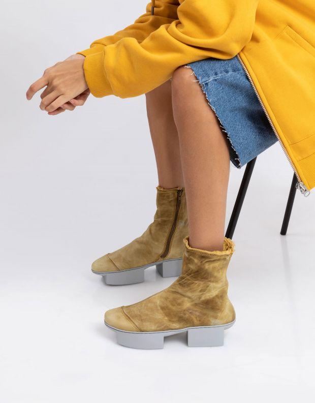 נעלי נשים - Trippen - מגפון NINA BOX - צהוב