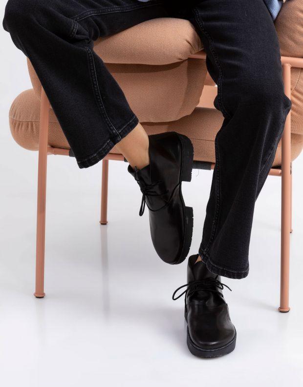 נעלי נשים - Trippen - מגפוני עור WHEEL SPORT - שחור מבריק