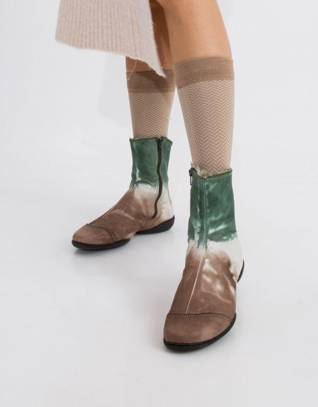 נעלי נשים - Trippen - מגפון SHADE CUP - ירוק   חום