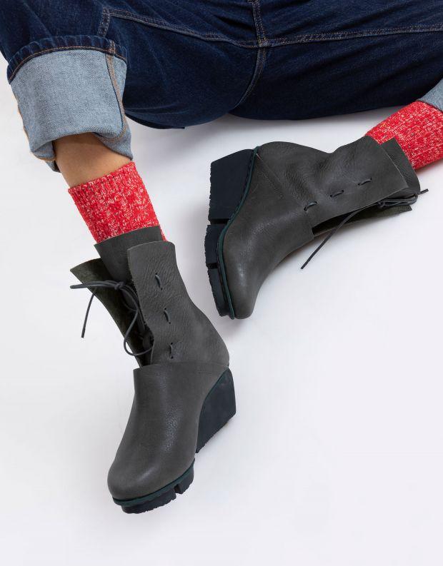 נעלי נשים - Trippen - מגפוני עור  SHARE SPLITT - ירוק