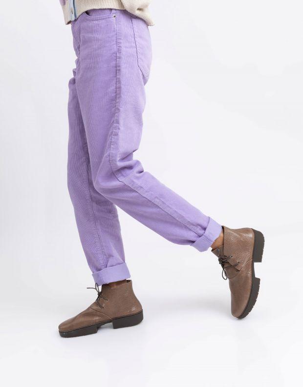 נעלי נשים - Trippen - מגפוני עור WHEEL SPORT - חום