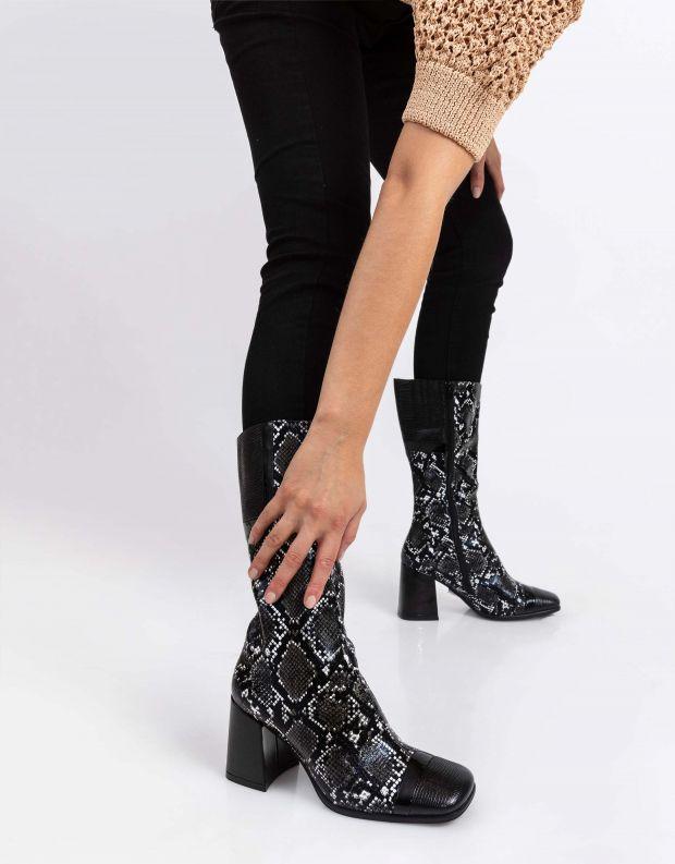 נעלי נשים - Jeffrey Campbell - מגפי נחש BARBAREL - שחור
