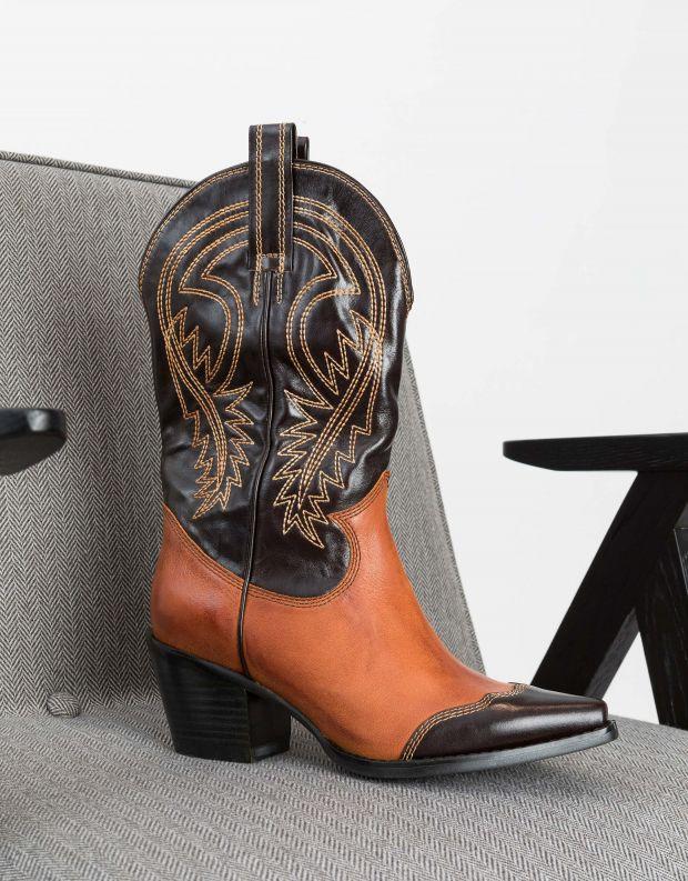 נעלי נשים - Jeffrey Campbell - מגפי בוקרים WESTLYN - חום