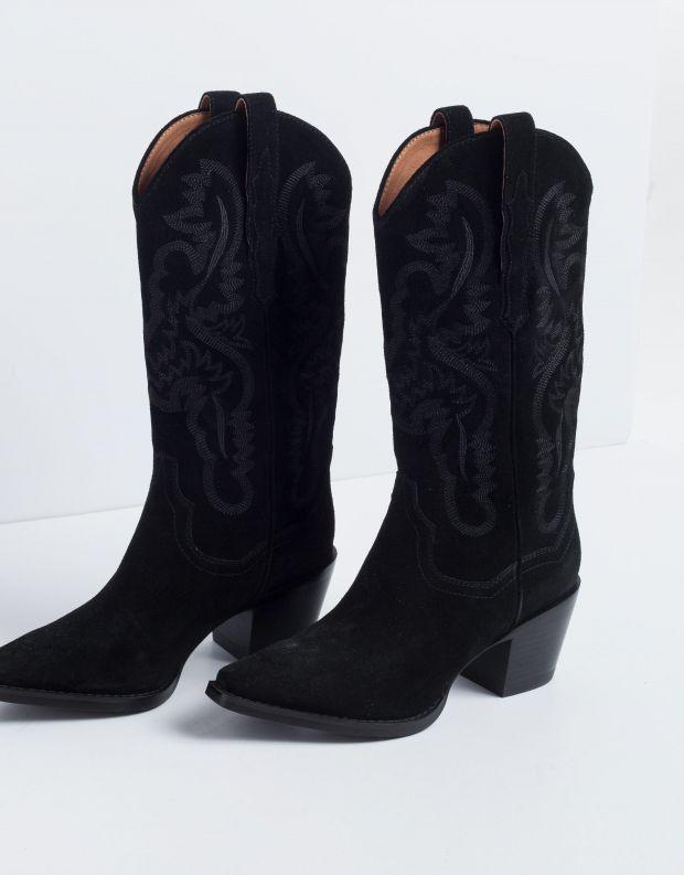 נעלי נשים - Jeffrey Campbell - מגף DAGGET זמש - שחור
