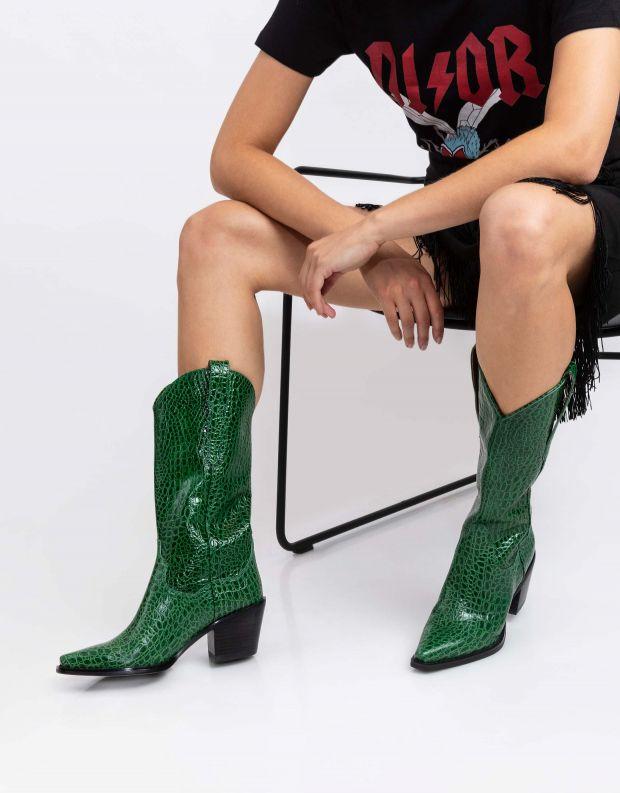 נעלי נשים - Jeffrey Campbell - מגפי DAGGET עור - ירוק