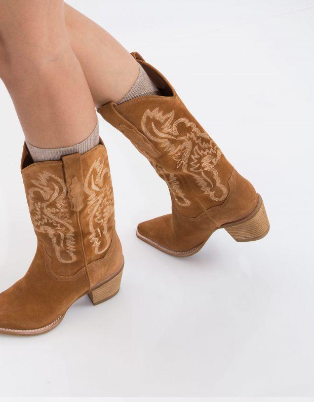 נעלי נשים - Jeffrey Campbell - מגף DAGGET זמש - קאמל
