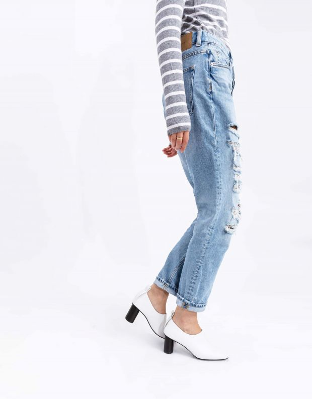 נעלי נשים - Jeffrey Campbell - נעלי עקב BASIC - לבן