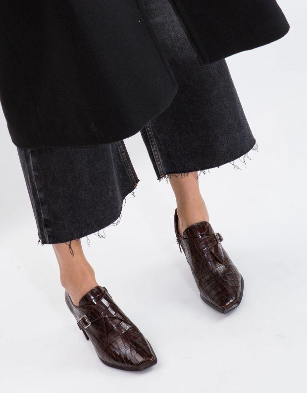 נעלי נשים - Jeffrey Campbell - נעלי ARNAU CROCO - חום קרוקו