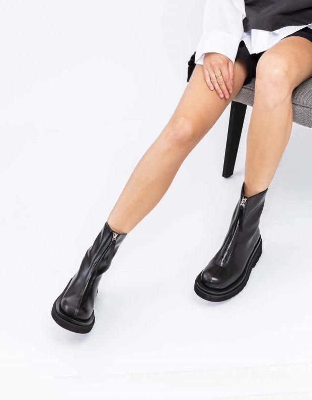 נעלי נשים - Jeffrey Campbell - מגפונים DOZED עם רוכסן - שחור