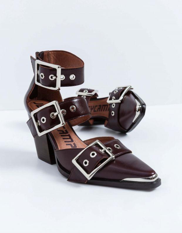 נעלי נשים - Jeffrey Campbell - נעלי אבזמים DOMINUS - חום