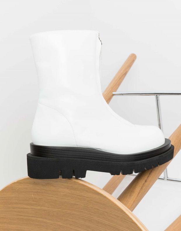 נעלי נשים - Jeffrey Campbell - מגפונים DOZED עם רוכסן - לבן