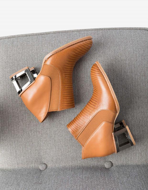 נעלי נשים - Jeffrey Campbell - מגפון DUVAL - קאמל