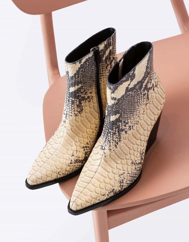 נעלי נשים - Jeffrey Campbell - מגפוני בוקרים ELEVATED - נחש