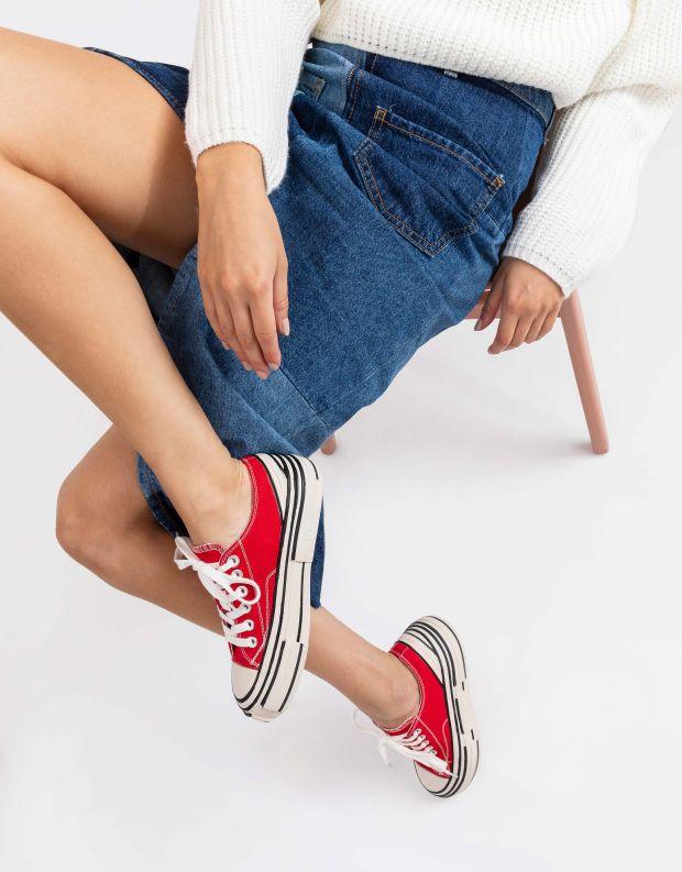 נעלי נשים - Jeffrey Campbell - סניקרס ENDORPHIN - אדום