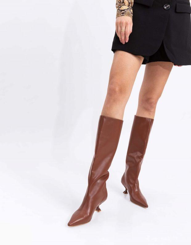 נעלי נשים - Jeffrey Campbell - מגפיים טבעוניים GERMANY - חום