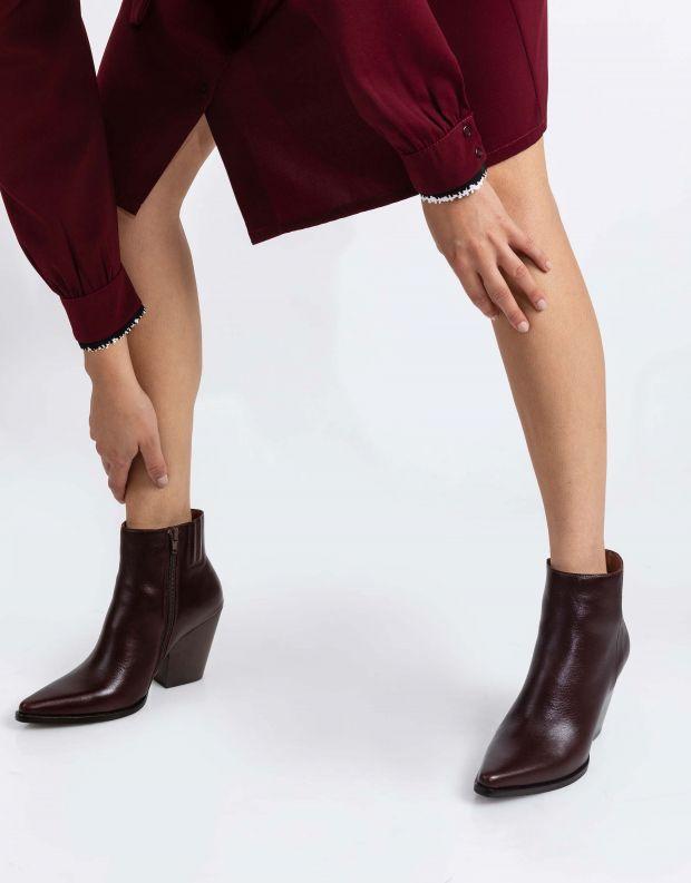 נעלי נשים - Jeffrey Campbell - מגפוני בוקרים ELEVATED - חום