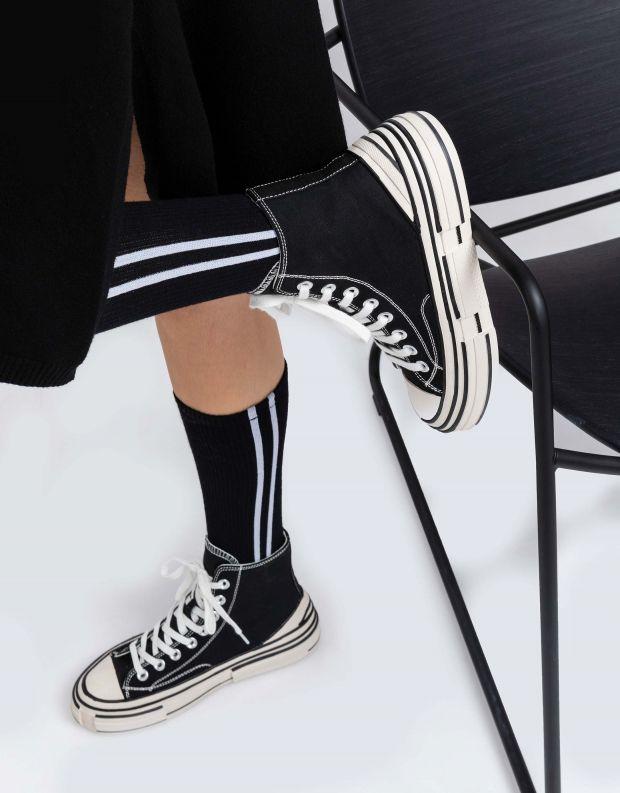 נעלי נשים - Jeffrey Campbell - סניקרס גבוהות ENDORPHIN - שחור