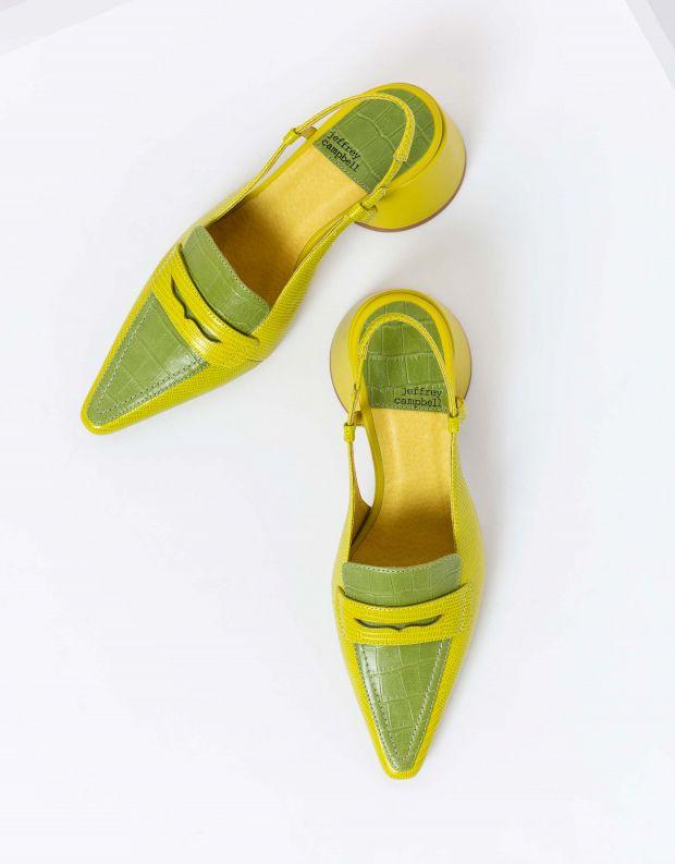 נעלי נשים - Jeffrey Campbell - נעלי סירה FERWAY - ירוק