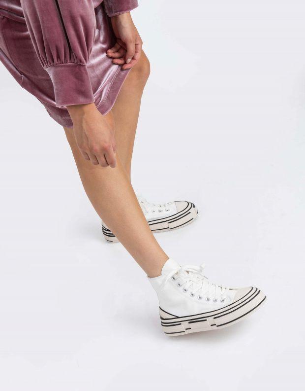 נעלי נשים - Jeffrey Campbell - סניקרס גבוהות ENDORPHIN - לבן