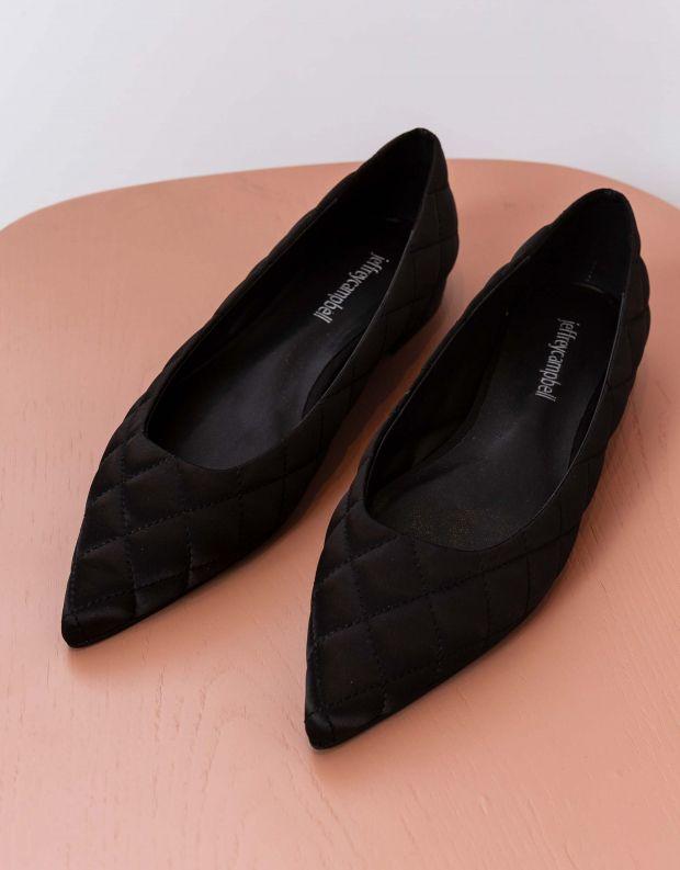 נעלי נשים - Jeffrey Campbell - נעלי סירה שטוחות LAVINIA - שחור