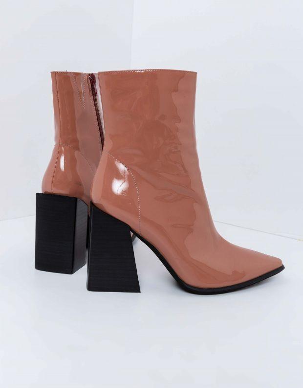 נעלי נשים - Jeffrey Campbell - מגפוני לק עם עקב LA SIREN - ורוד