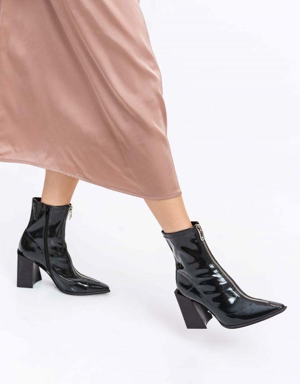 נעלי נשים - Jeffrey Campbell - מגפוני לק רוכסן LA SIREN - ירוק