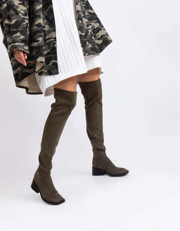 נעלי נשים - Jeffrey Campbell - מגפיים גבוהים PATRIK - חאקי