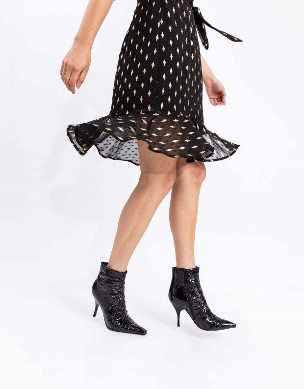 נעלי נשים - Jeffrey Campbell - מגפוני עקב וכיווצים SCRUN - שחור