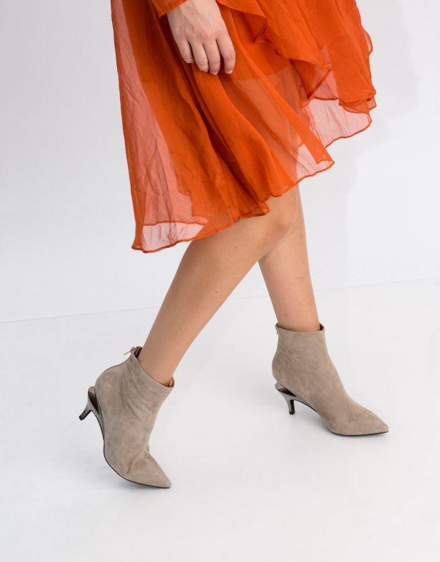 נעלי נשים - Jeffrey Campbell - מגפון MUSEUM - בז'