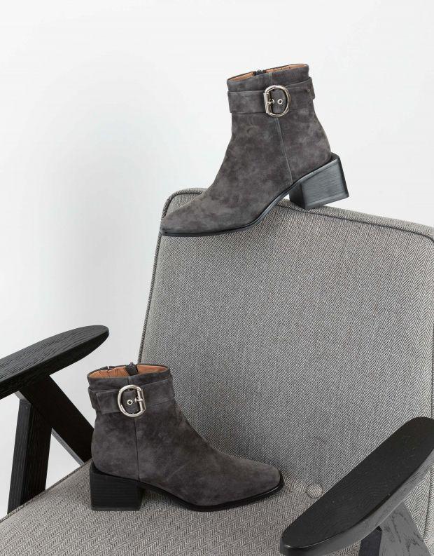 נעלי נשים - Jeffrey Campbell - מגפונים REGAN - אפור