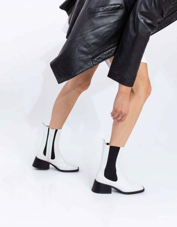 נעלי נשים - Jeffrey Campbell - מגפוני צ'לסי LLIAM HI - לבן