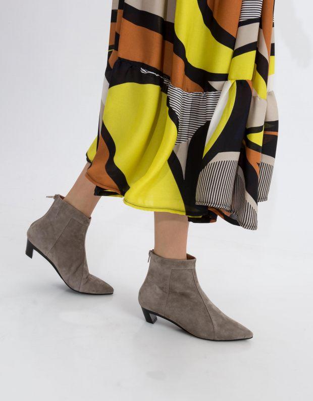 נעלי נשים - Jeffrey Campbell - מגפון MISTRESS - אפור