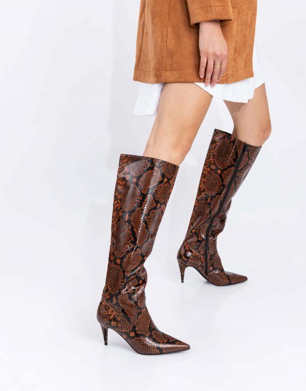 נעלי נשים - Jeffrey Campbell - מגפי עקב PARALLEL - חום