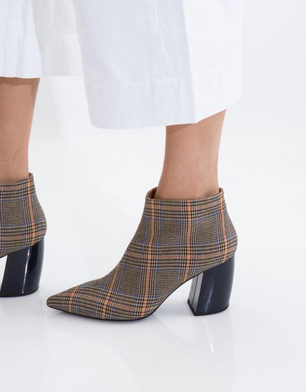 נעלי נשים - Jeffrey Campbell - מגפון TOTAL - בז'   כחול