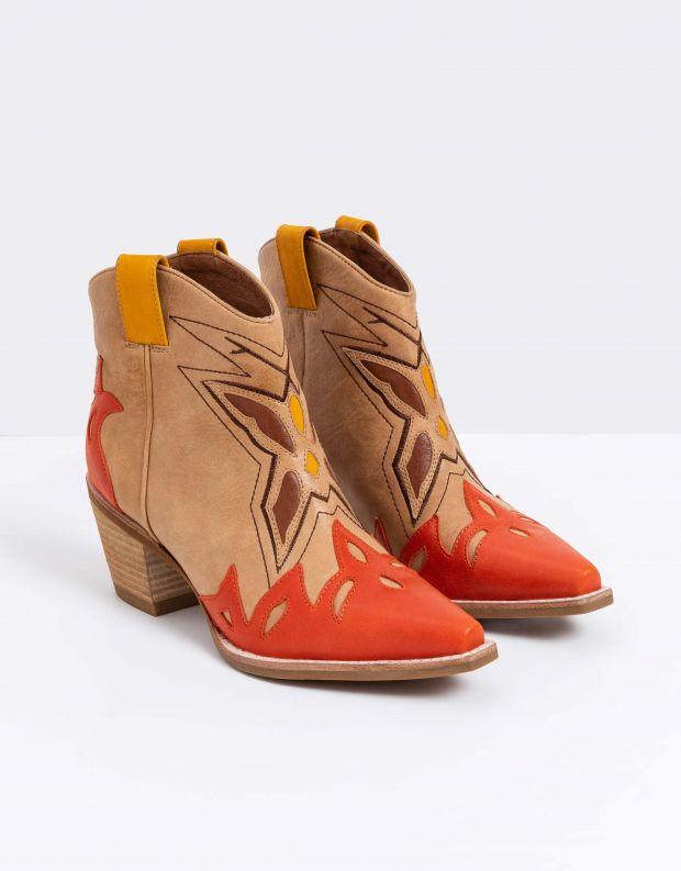 נעלי נשים - Jeffrey Campbell - מגפון TOONEY - כתום