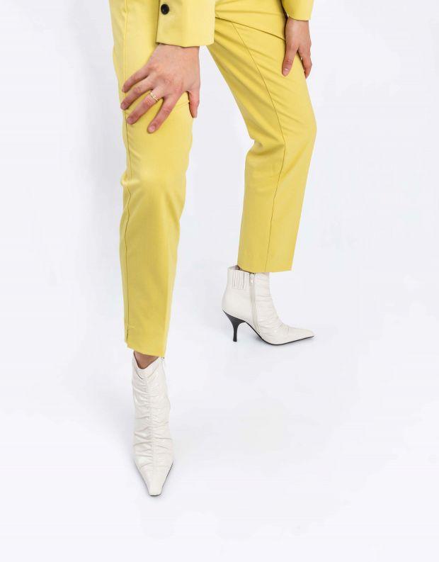 נעלי נשים - Jeffrey Campbell - מגפוני עקב וכיווצים SCRUN - לבן