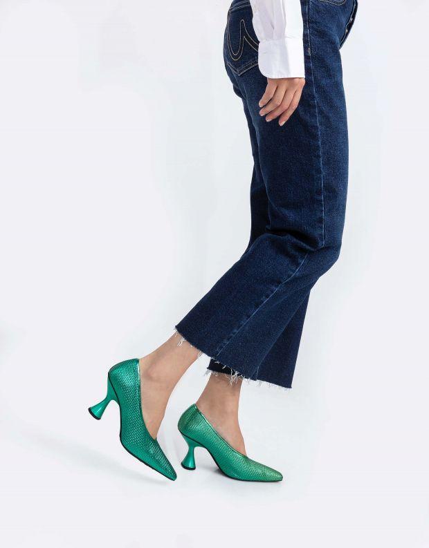 נעלי נשים - Jeffrey Campbell - נעלי סירה עם עקב THETA - ירוק