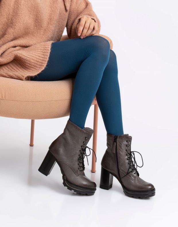 נעלי נשים - Mjus - מגפוני AMARANTA שרוך - אפור