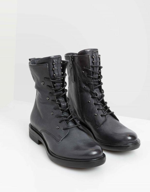 נעלי נשים - Mjus - מגפונים עם שרוכים CAFE - אפור