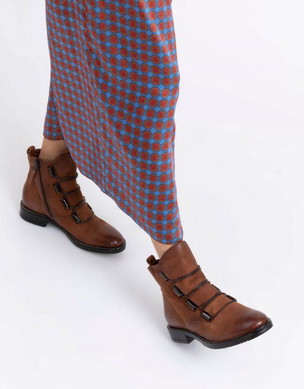 נעלי נשים - Mjus - מגפוני ZARKO לשון - קוניאק