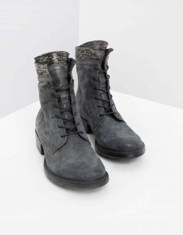 נעלי נשים - Mjus - מגפוני NORTON פס ניטים - אפור