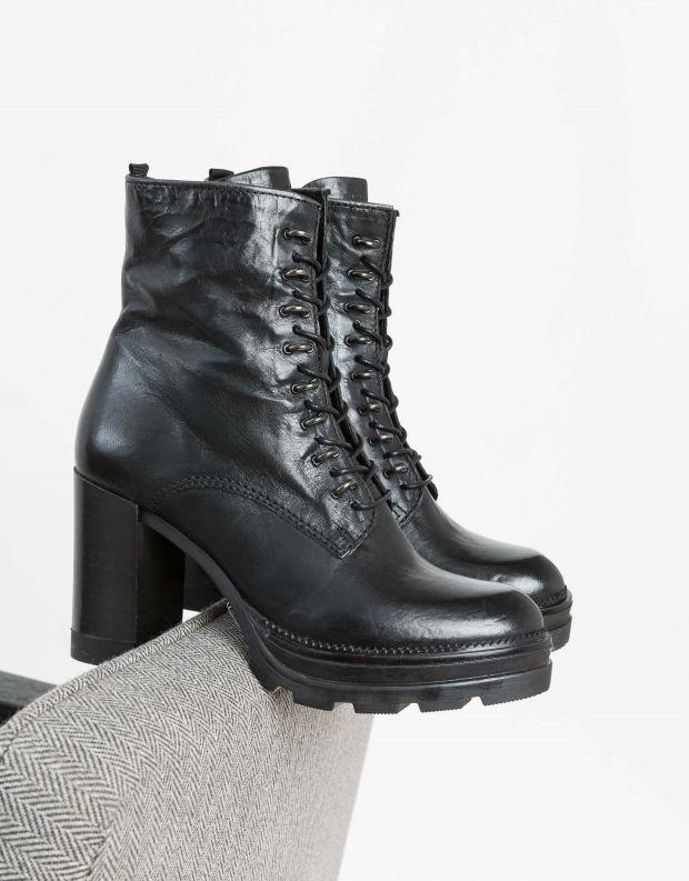נעלי נשים - Mjus - מגפוני AMARANTA שרוך - שחור