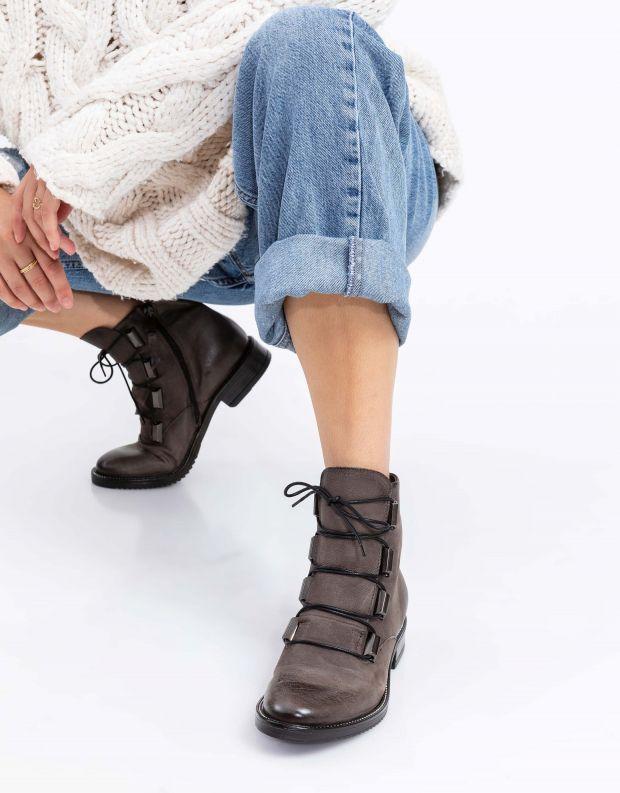 נעלי נשים - Mjus - מגפוני ZARKO לשון - אפור