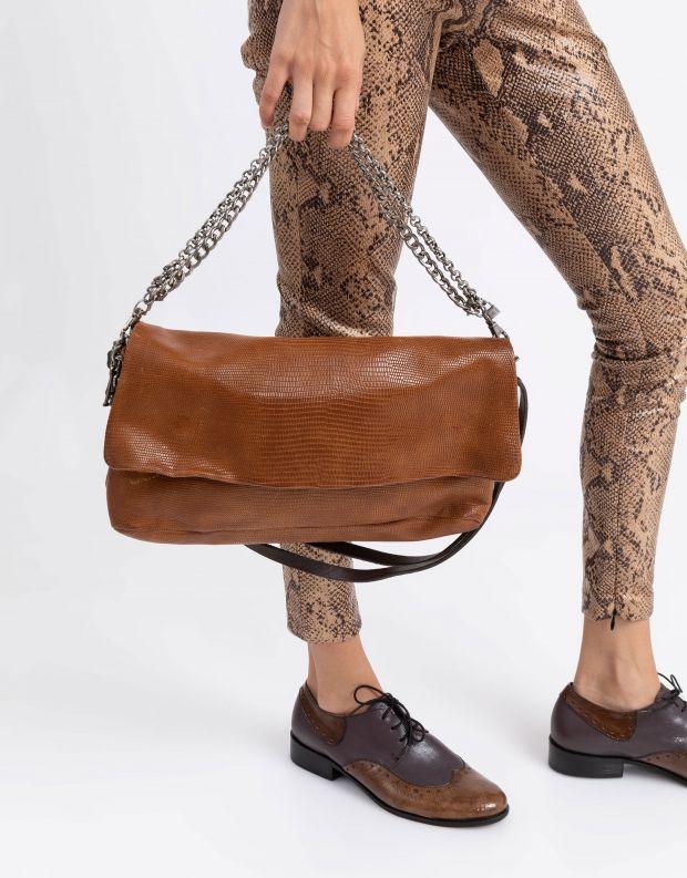 נעלי נשים - A.S. 98 - תיק קטן ידית שרשרת - קאמל