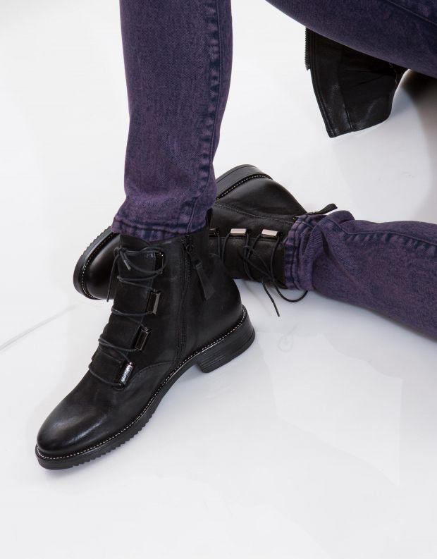 נעלי נשים - Mjus - מגפוני ZARKO לשון - שחור