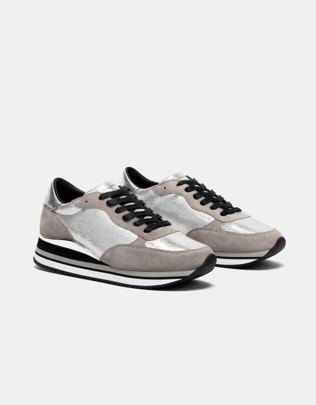 נעלי נשים - Crime London - סניקרס DYNAMIC - כסף