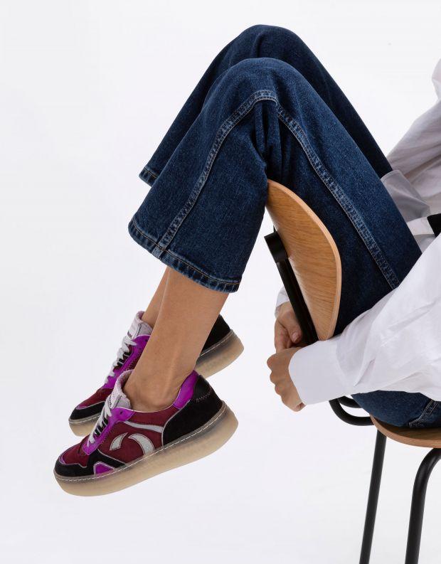נעלי נשים - Crime London - סניקרס DRIBBLE צבעוני - פוקסיה