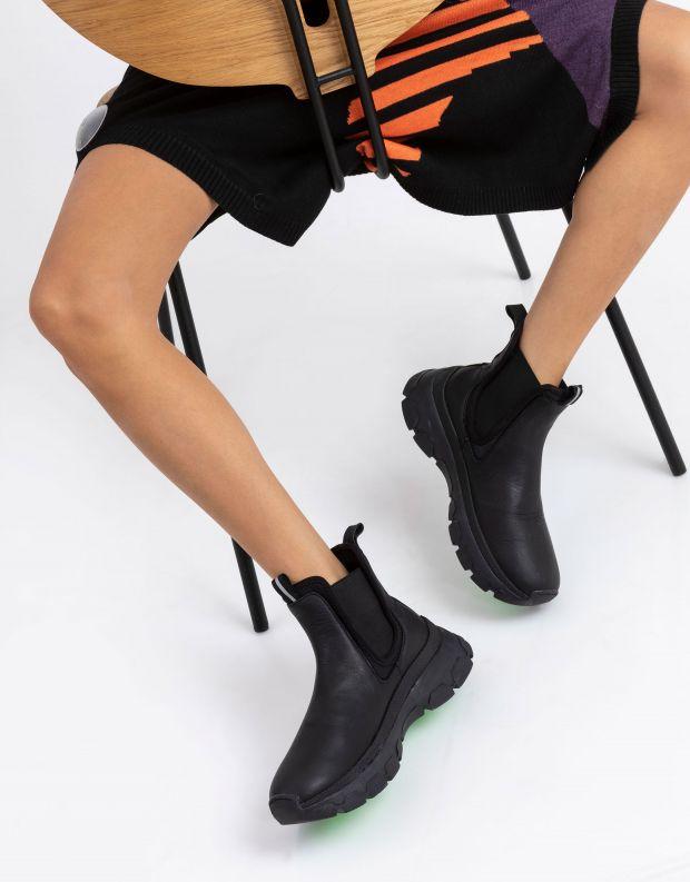 נעלי נשים - Crime London - מגפוני פלטפורמה ILLUDE - שחור